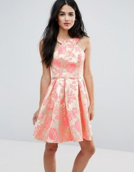 Forever Unique Printed Pleated Dress - Multi