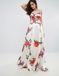 Forever Unique Sleeveless Maxi Floral Prom Dress - Multi
