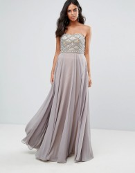 Forever Unique Sweetheart Maxi Dress - Grey