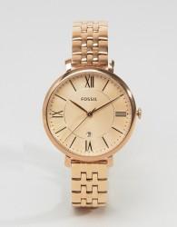Fossil ES3435 Jacqueline Bracelet Watch In Rose Gold - Gold
