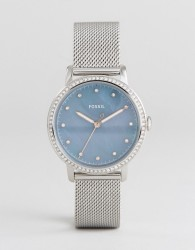 Fossil ES4313 Neely Mesh Watch In Silver - Silver