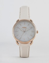 Fossil ES4421 Tailor Leather Watch in Glossy Grey 35mm - Grey