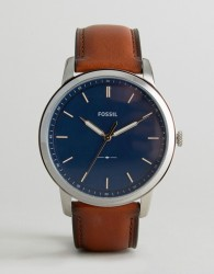 Fossil FS5304 Leather Watch In Tan 44mm - Tan