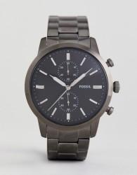 Fossil FS5349 Townsman Chronograph Bracelet Watch In Gunmetal 44mm - Silver