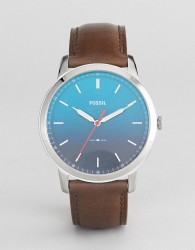 Fossil FS5440 The Minimalist Leather Watch with Ombre Face - Brown