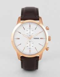 Fossil FS5468 Townsman Leather Watch 44mm - Brown