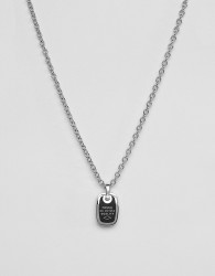 Fossil mens stainless steel classic necklace - Silver