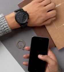 Fossil Q FTW1115 Nate Bracelet Hybrid Smart Watch In Black - Black