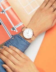 Fossil Q FTW1129 Sand Leather Tailor Smart Watch - Cream