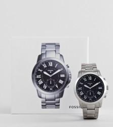 Fossil Q FTW1158 Grant Bracelet Hybrid Smart Watch In Silver 44mm - Silver