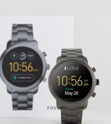 Fossil Q FTW4001 Explorist Bracelet Smart Watch In Gunmetal - Silver