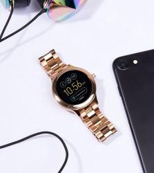 Fossil Q FTW6000 Venture Bracelet Smart Watch In Rose Gold - Gold