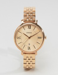 Fossil Rose Gold Jacqueline Watch ES3435 - Gold