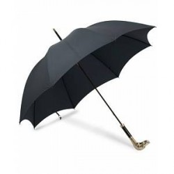 Fox Umbrellas Silver Dog Umbrella Navy