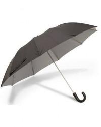 Fox Umbrellas Telescopic Umbrella Black/Contrast Grey men One size Sort,Grå