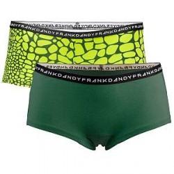 Frank Dandy 2-pak Womens Crocodile Boxers - Green Pattern * Kampagne *