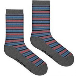 Frank Dandy Bamboo Stripe Crew Sock - Pattern-2 - Str 41/46