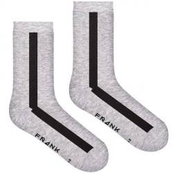 Frank Dandy Bamboo Vertical Crew Sock - Black/Grey * Kampagne *