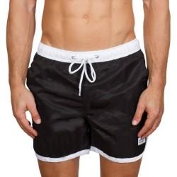 Frank Dandy Long Bermuda Swimshorts - Black/White * Kampagne *