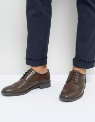 Frank Wright Brogues In Brown Leather - Brown