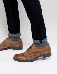 Frank Wright Brogues In Tan Leather - Tan