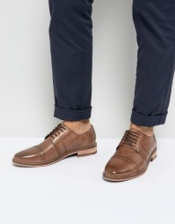 Frank Wright Brogues In Tan Leather - Tan
