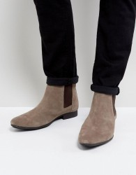 Frank Wright Chelsea Boots Beige Suede - Beige