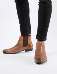 Frank Wright Chelsea Boots In Tan Leather - Tan