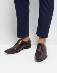 Frank Wright Derby Shoes In Brown Leather - Brown