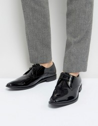Frank Wright Derby Shoes In Patent Leather - Black