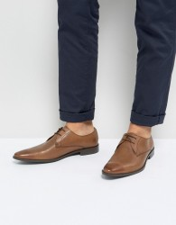 Frank Wright Derby Shoes In Tan Leather - Tan