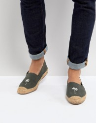 Frank Wright Embroided Espadrilles - Green