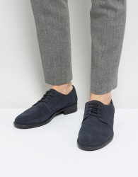 Frank Wright Lace Up In Navy Suede - Blue