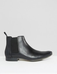 Frank Wright Leather Chelsea Boots - Black