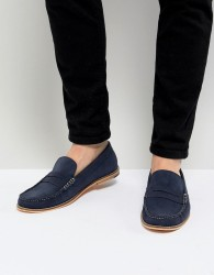 Frank Wright Loafers In Blue Suede - Blue