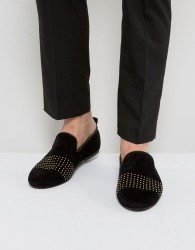 Frank Wright Loafers With Gold Stripe - Blue