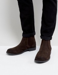 Frank Wright Round Toe Chelsea Boots - Brown