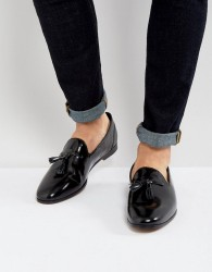 Frank Wright Tassel Loafers In Black Patent - Black