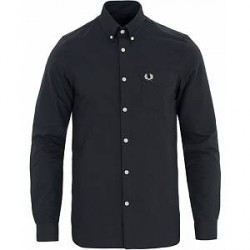 Fred Perry Classic Fit Oxford Shirt Black