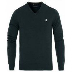 Fred Perry Classic Merino V-neck Racing Green