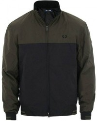 Fred Perry Colour Block Sports Jacket Hunting Green men M