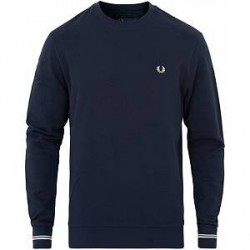 Fred Perry Crew Neck Sweat Carbon Blue
