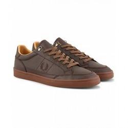 Fred Perry Deuce Premium Leather Sneaker Brown