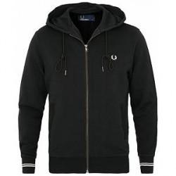 Fred Perry Full Zip Hooded Sweatshirt Black