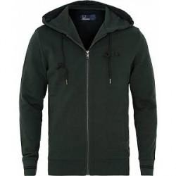 Fred Perry Full Zip Hooded Sweatshirt Dark Green