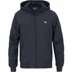 Fred Perry Hooded Brentham Jacket Dark Airforce