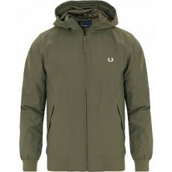 Fred Perry Hooded Brentham Jacket Olive