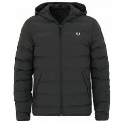 Fred Perry Insulated Hooded Jacket Black