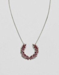 Fred Perry laurel wreath silver necklace - Silver
