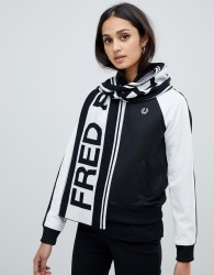 Fred Perry logo scarf - White